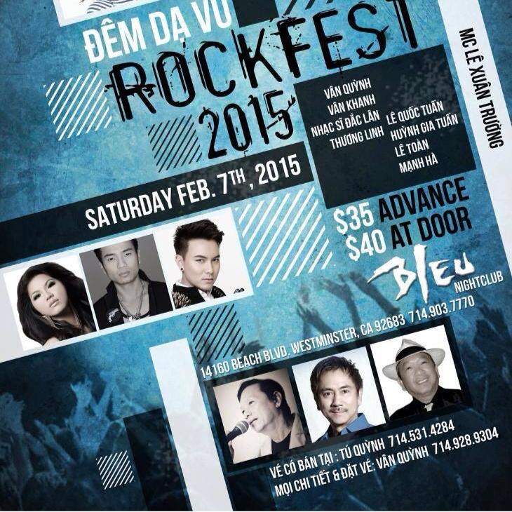 Nhạc Sĩ Đắc Lân- ca sĩ Vân Quỳnh, Vân Khanh và MC Lê Xuân Trường trong Đêm nhạc: Rockfest – thành công