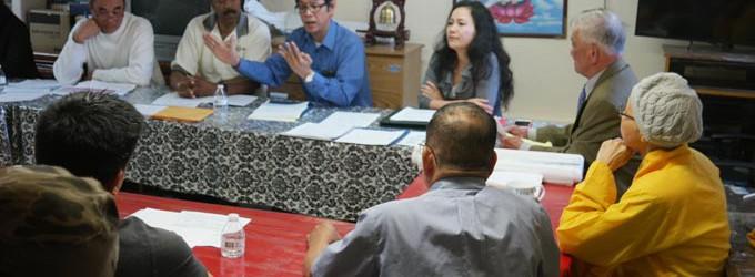 """Sau buổi gây quỹ (17-4-2016) thành công, Chùa Vạn Hạnh tiếp tục  xây cất- Buổi họp """"xác minh"""" Chùa không thiếu nợ"""