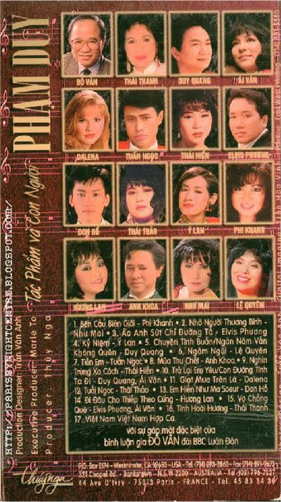 DVD Phạm Duy: Tác Giả và Con Người- của thời Nước Non Ngàn Dăm Ra Đi, thời mới định cư tại Hoa Kỳ