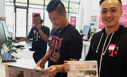 Người Việt tìm mua iPhone 7- với 3 saleman trẻ người gốc Việt tại chi nhánh T-Mobile- MLKing Seattle