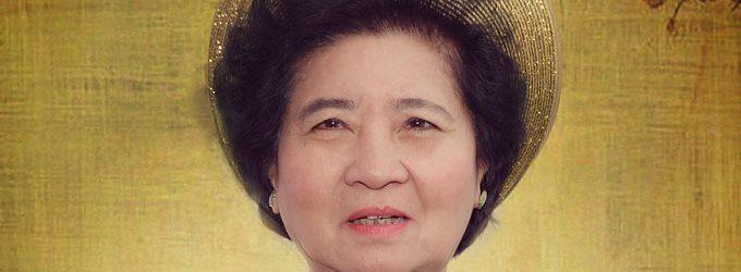 Cụ Bà Trần Tấn Mùi nhiều đóng góp cho cho các xứ đạo- và con trai phi công Trần Văn Khôi đóng góp cho quê hương