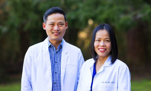 Two young Vietnamese Doctors provide free medical treatment and testing to Seattle Patients