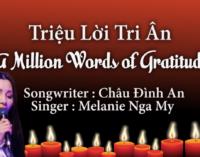 A Million Words of Gratitude – written by Châu Đình An   performed by Melanie Nga My